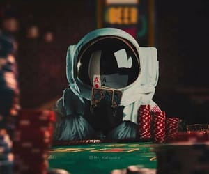 astronaut, gaming, and red image