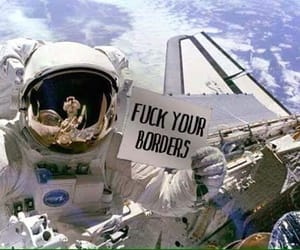 astronaut, fuck, and borders image