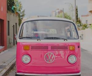 pink, car, and vintage image