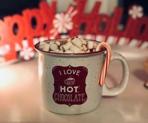 chocolate, hot cocoa, and i love image