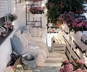 flowers, home, and balcony image