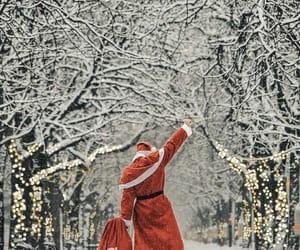 christmas, christmas lights, and cold image