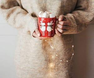 christmas, winter, and hotcocoa image