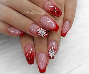 christmas, holiday, and nails image