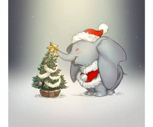 christmas, disney, and dumbo image