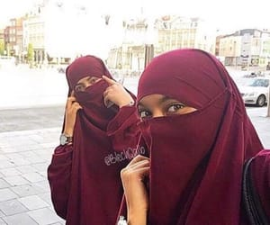 arab, beautiful, and hijab image