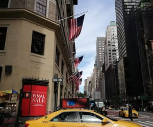 america, new york, and buildings image