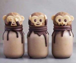 food, chocolate, and monkey image