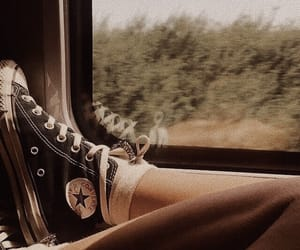 converse, legs, and window image