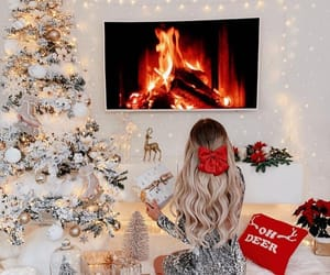 christmas and girl image