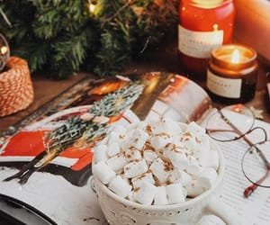 christmas, hotcocoa, and coffee image