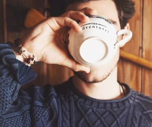 coffee, boy, and winter image