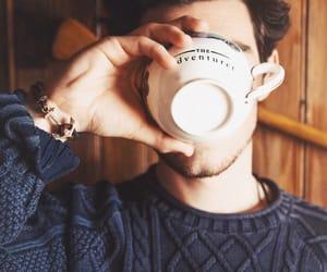 coffee, man, and boy image