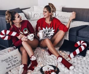 christmas, girl, and friends image