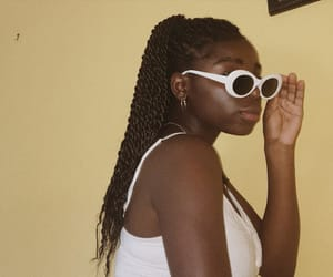 braids, girls, and sunglasses image