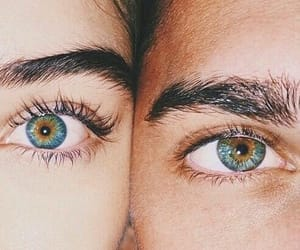 eyes, couple, and boy image