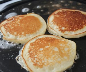breakfast, butter, and pancakes image