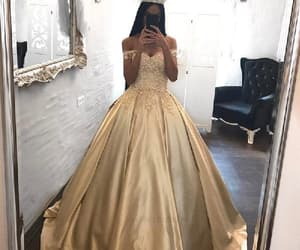 ball gown prom dress, prom dress sexy, and appliques prom dress image
