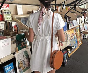aesthetic, girl, and books image