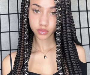 braids, hair, and pretty image