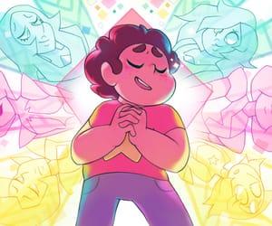 amethyst, white diamond, and steven universe image