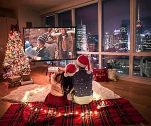 christmas tree, couple, and christmas image