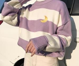 aesthetic, fashion, and purple image