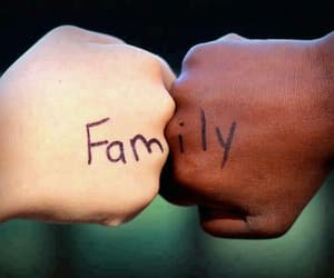 family, white, and black image