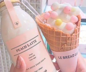 pink, aesthetic, and food image
