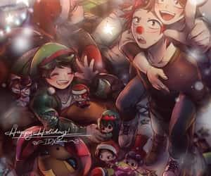 boku no hero academia, tsuyu asui, and midoriya izuku image