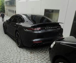 black, car, and porsche image
