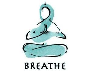 breathe, yoga, and meditation image