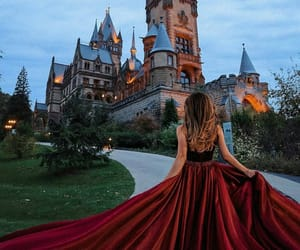 dress, castle, and photography image