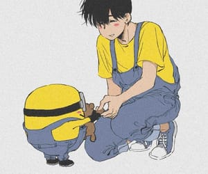 adorable, minions, and yellow image