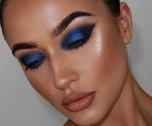 blue eyeshadow, loveit, and makeup image