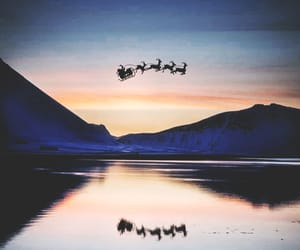 santa, winter, and christmas image