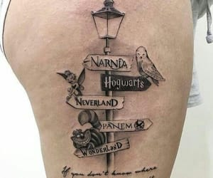 tattoo, narnia, and hogwarts image