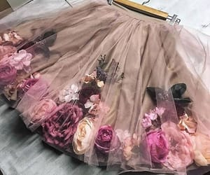 flowers, roses, and skirt image