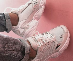 baby pink, girly, and jeans image