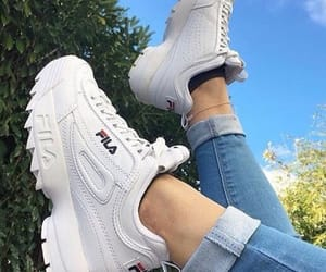 shoes, fashion, and Fila image