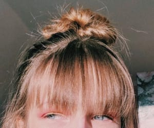 bangs, blue, and brown image