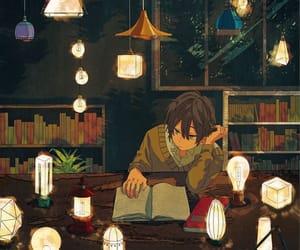 art, illustration, and lights image