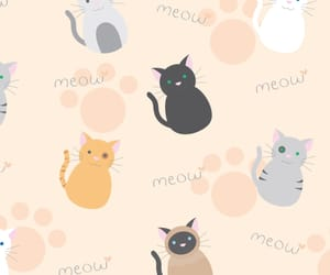 art, cat, and wallpaper image