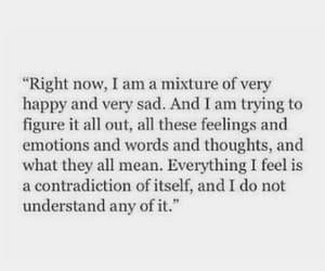 quotes, happy, and sad image