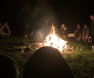 bonfire, camp, and fire image