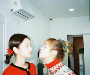 christmas, girls, and red image