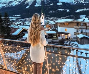 snow, fashion, and girl image