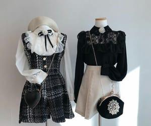 asian fashion, black white, and korean fashion image
