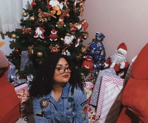 arvore, girl, and xmas image