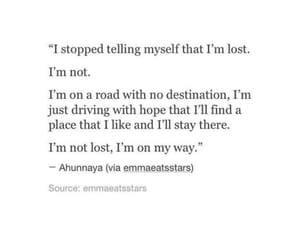 alone, destination, and lost image